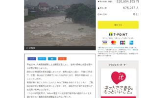 平成30年7月豪雨緊急災害支援募金(Yahoo!基金) 結果
