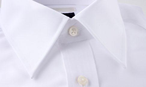 台衿付きシャツカラー