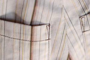 アウトポケット 縫い代の処理