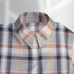 台衿付きシャツカラー 柄合わせ