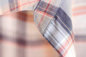 台衿付きシャツカラー 衿先