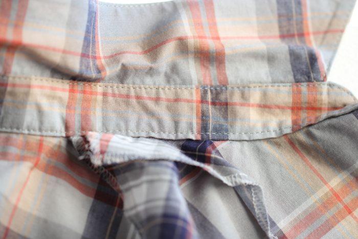 台衿付きシャツカラー 台衿裏