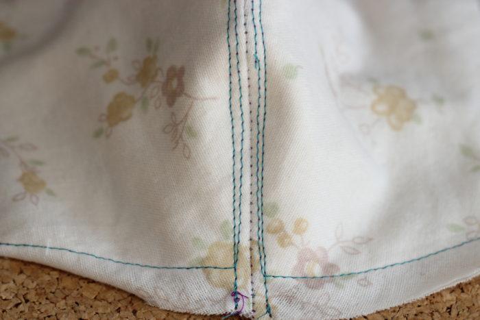 マスクの作り方 中央を縫う